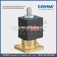3way válvula de solenóide de ação direta água, ar, óleo bronze válvula flange suporte pequenos electrodomésticos válvula solenóide aberta normal