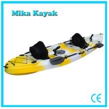3 Person Kayak del océano se sienta en canoa plástica superior con los precios