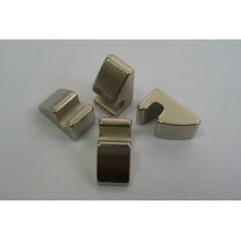 Gesinterter NdFeB Magnet, die unregelmäßige Form mit Nickelbeschichtung