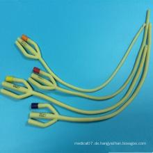 Medizinischer Latex 3 Way Foley Katheter