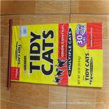 Impresión a todo color del precio barato profesional que empaqueta el bolso tejido PP / el bolso de compras tejido los PP