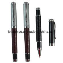 Amostras Grátis Metal Couro Gel Ink Pen (LT-D017)