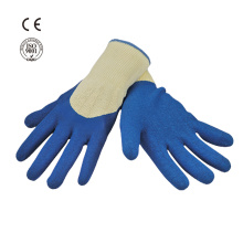 cotton knit safety work glove with latex coated