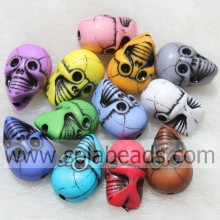 China supplier OEM for China Evil Eye Beads,Bone Skull Beads,Plastic Acrylic Skull Beads Factory Beautiful 12*20MM Art Skull Head Shape Candy Charm Beads supply to Christmas Island Supplier