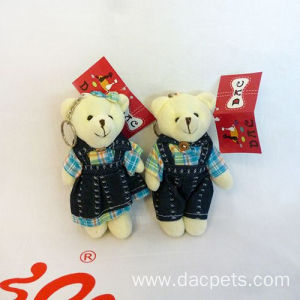 plush jointed bear keyring