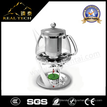 OEM Stainless Steel and Glass Teapot with Strainer Infuser