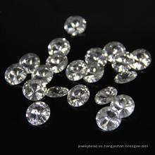 Machine Cut 2mm Superior Suelta CZ gemas sintéticas redondas