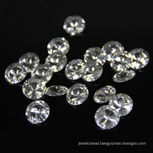 Machine Cut 2mm Superior Loose Round Synthetic CZ Gems