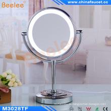 Desktop Stand Makeup Mirror Drehbarer LED-Spiegel für das Badezimmer des Hotels