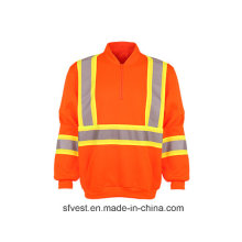 Class3 CSA Z96 High Visibility Safety Sweatshirt with Reflective Tape