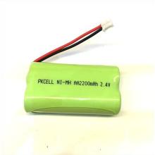 ni-mh 2.4v batería del teléfono inalámbrico aa 2200mah paquete de baterías recargables