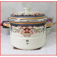 olla de cocción al vapor de acero al carbono de revestimiento de esmalte y olla de esmalte personalizado