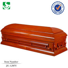 Conventional standard glossy wooden religious caskets