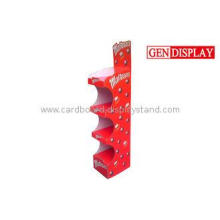 Stable POS Cardboard Display Stand , Store Candy Folding Di