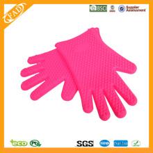 2014 Heißer verkaufender FDA Standard-hitzebeständiger Nahrungsmittelgrad-Silikon-Fünf Finger-Ofen-Handschuhe