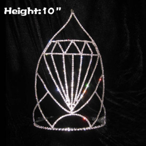 10inch Big Diamond Crystal Pageant Crowns
