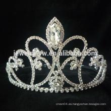 Venta al por mayor caliente venta popular exquisita romántica hermosa flores nupciales de aleación de cristal de plata