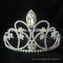 Venda Por Atacado Hot Venda Popular Requintado Romântico Beautiful Bridal Flores Alloy Crystal Prata