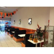 Mesa de jantar do restaurante da pizza e cabine do sofá (FOH-RFS1)