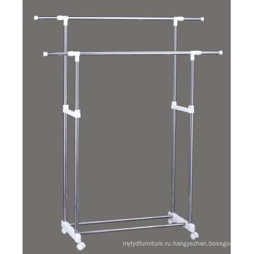 Новейшая двойная стойка для одежды