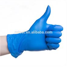 Guantes de nitrilo médicos sin polvo azul desechables