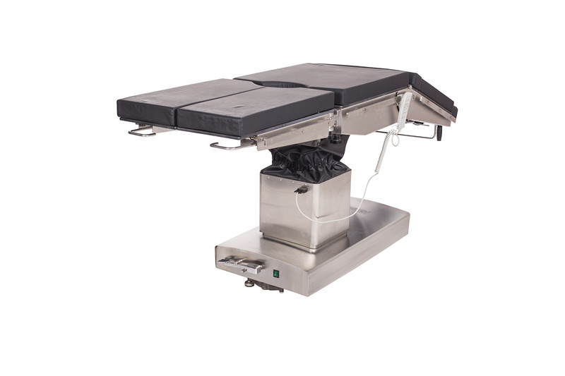 Electric power source operating table