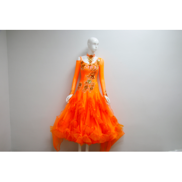 Robes de danse de salon orange