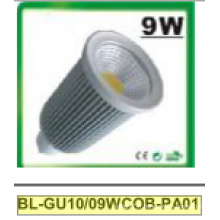 Projecteur de 9W Dimmable GU10 COB LED