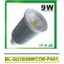 9W затемнения GU10 cob светодиодный Прожектор