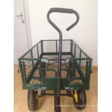 chariot de jardin vente chaude avec corps de maille