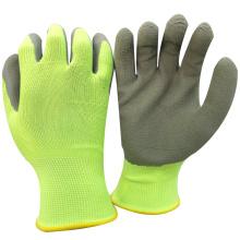 NMSAFETRY Kommissionierung Kirsche Verwendung günstigen Preis weichen Liner für leichte Arbeit verwenden 13 Guage Polyester Liner Schaum Latex Palm Garten Handschuhe