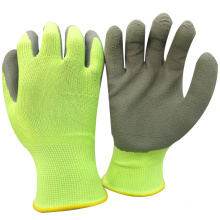 NMSAFETY picking cherry use cheap price soft liner for light work use 13 guage polyester liner foam latex palm garden gloves