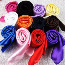 New Fashion collection 90*90 cm light weight decorative dubai muslim prayer scarf hijab 2017 silk satin scarf solid color