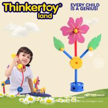 Brinquedos Criativos Flor de Bloco de Construção para Meninas