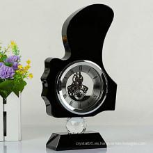 Hermoso reloj de cristal para decoración de escritorio