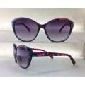 Модные солнцезащитные очки Lady's Fashion Sunglasses Hollow Metal Temple P25029
