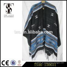 Oversize várias maneiras de vestir acrílico pashmina xaile cachecol garantia de ouro garantia comercial