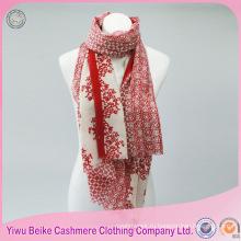 Классический стиль цветочные печать саржевого шелковый пашмины шаль