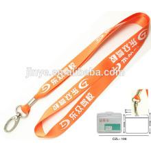 Correia do chaveiro do suporte de cartão da identificação do emblema do trabalho relativo à promoção