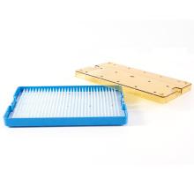 Sterilisationsbox für medizinisches Instrument aus weißem Silikon