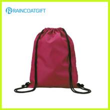 Promotional Reinforced Corners Budget Custom Polyester Drawstring Bag