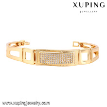 74514 Fashion Elegant CZ 18k Gold-Plated Metal Alloy Jewelry Watch Bracelet
