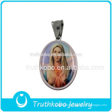 Top Quality Christianity Jewelry Blessed Virgin Mary Pendant Religious Accessories Stainless Steel Jewelry