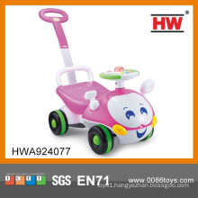 New Design Pink Color Baby Ride On Cars With Push Handle With Light & Music