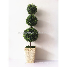 China wholesale decorative plastic round balls tree artificial topiary ball tree