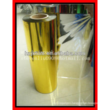 gold pet lamination film