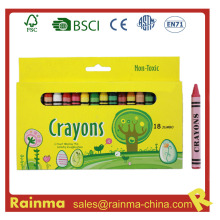 Non-Toxic 18PCS Jumbo Crayon en caja de papel