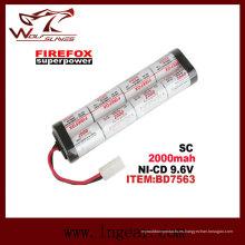 Firefox Sc2000mAh 9.6V Ni-MH batería de RC Mini de Airsoft Aeg