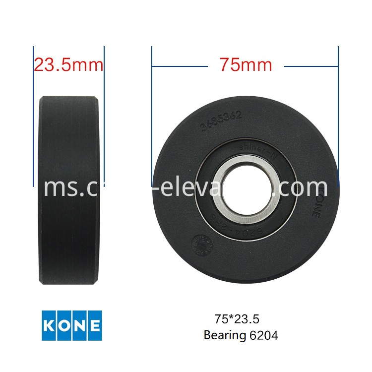 Black Step Roller for KONE Commercial Escalators KM3685362