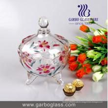 Frasco de caramelos de vidrio de regalo de varios colores